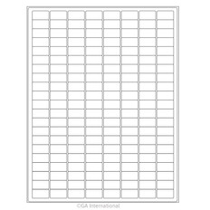 """Cryo Inkjet Labels - Sheet Format - 0.94"""" x 0.5"""" #AJA-12"""