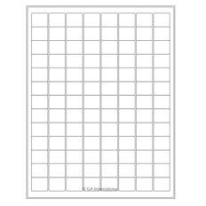 """Cryo Inkjet Labels - Sheet Format - 0.94"""" x 0.78"""" #AJA-32"""