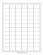 """Cryo Inkjet Labels - Sheet Format - 1.26"""" x 0.87"""" #AJA-9"""