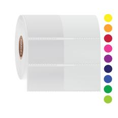 "Wrap-Around Labels for Frozen Vials - 1.5"" x 1"" + 1.5"" wrap  #FIX-329NOT"