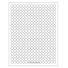 "Cryo Inkjet Labels - Sheet Format - 0.433"" circle #AJA-48"