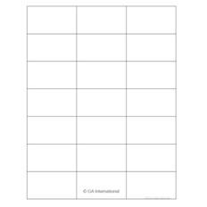 """Cryo Inkjet Labels - Sheet Format - 2.83"""" x 1.57"""" #AJA-29"""