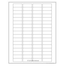"""Cryo Inkjet Labels - Sheet Format- 1.625"""" x 0.61"""" #AJA-80"""