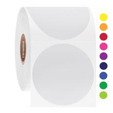 """Solvent Resistant Color Labels- 2"""" circle #AUA-132"""
