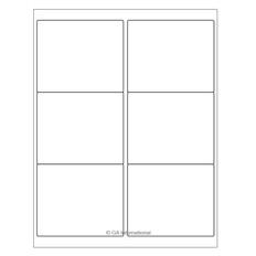 """Cryo Inkjet Labels - Sheet Format- 4"""" x 3.33"""" #AJA-15"""