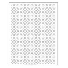 """Cryo Inkjet Labels - Sheet Format - 0.35"""" circle #AJA-10"""