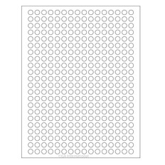 "Cryo Inkjet Labels - Sheet Format - 0.35"" circle #AJA-10"