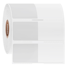 "Wrap-Around Labels for Frozen Containers - 1.34"" x 1"" + 1.38"" wrap  #L2FS-308NOT"