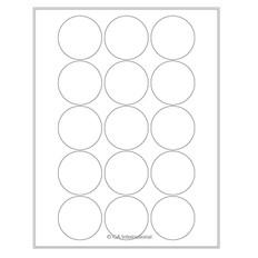 """Cryo laser labels - 2"""" circle  #CL-86"""