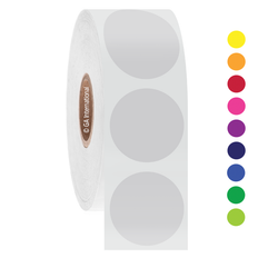 """Thermal Transfer Repositionable Paper Labels - 1"""" circle   #REP-115NP"""
