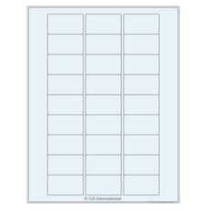 "Clear Cryo Laser Labels - 2"" x 1.125"" #TRCL-63"