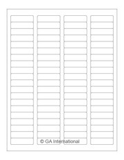 "Autoclave Labels for Laboratory Glassware - 1.75"" x 0.5""  #AKA-13"