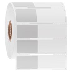 "Cryo & Autoclave Resistant Wrap-Around Labels - 1"" x 0.625"" +1.375""  #CATT-312 Notch"