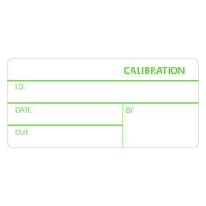 "Self-Laminating Calibration Labels - 1"" x 2.125""  #CALA-002-1R-TGA"