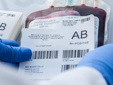 "Blood Bag Secondary Labels - 3.875"" x 3.875"" with kiss-cut  #JTT-296"