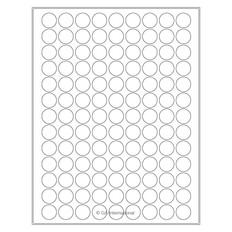 "High Quality Laser & Inkjet Matte Paper Labels - 0.75"" circle  #LIP-51WH"