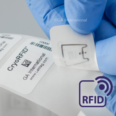 "Deep-Freeze RFID Labels for Vials (PATENTED) - 1.378"" x 0.866""  #CRF-510NP"