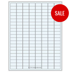 "Clear Writable Labels for General Use and Freezer Boxes -  0.94"" x 0.5""  #LQ-TRCL-12"