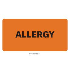 """Allergy"" Label - 2"" x 1""  #H-PPL-04428"