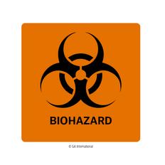 "Biohazard Warning Labels - 2"" x 2""  #H-PPL-04432"