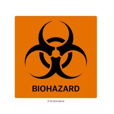 "Biohazard Warning Labels - 4"" x 4""  #H-PPL-04433"