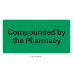 """""""Compounded by the Pharmacy"""" Labels - 2"""" x 1""""  #H-PPL-04436"""