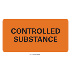 """""""Controlled Substance"""" Labels - 2"""" x 1""""  #H-PPL-04438"""
