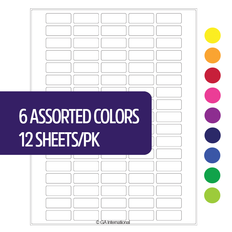 "Cryo Laser Labels - 1.28"" x 0.5""  #CL-114 (6 assorted colors)"