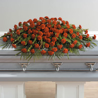 A Life Well-Lived - Full Casket Spray