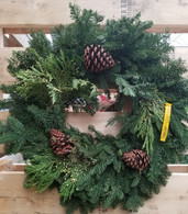 "22"" - 24"" Noble Fir Mixed Wreath"