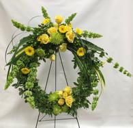 Green & Gold Wreath