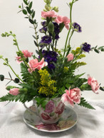 Sat Feb 29 11:15a-12:15p - Make A Fresh Flower Arrangement in a Tea Cup