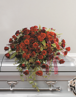 Classic Rose and Carnation Casket Spray