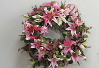 In Comfort and Peace Standing Wreath