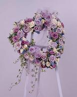 Lavender Open Heart Standing Spray