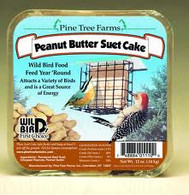 Pine Tree Farms 12 oz. Peanut Butter Suet Cake (12/Case)