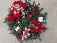"Large 26""-28"" Fresh Wreath"