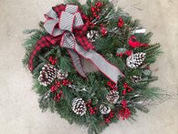 Fresh, Handmade Cardinal Wreath