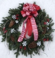 Fresh, Handmade Snowflake Wreath