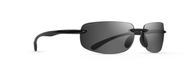 Newport Gloss Black Polarized Sunglasses & Gray Polarized Lenses