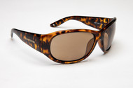 Classic style in tortoise with wide temples to block reflected light off the water.