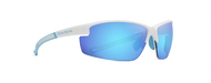 Olympic Gloss White Blue Mirror Lens Sunglasses