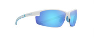 Olympic Gloss White Blue Mirror Lens Sunglasses