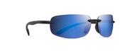 Newport Mat Black Blue Mirror Polarized Sunglasses