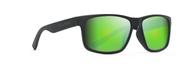 Waypoint Mat Black  Frames & Ocean Green Mirror Polarized Lenses