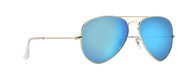 62mm Large Blue Mirror Aviator
