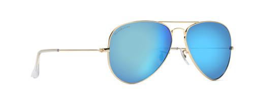 blue mirror aviators