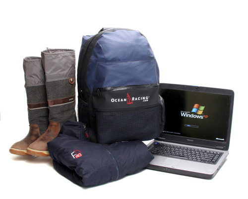 Designed to hold foulies, boots & a laptop. Everything you need in a handy, waterproof backpack.