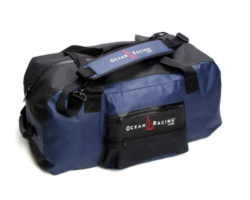 Large & waterproof with wide shoulder straps & box stitch reinforced handles.