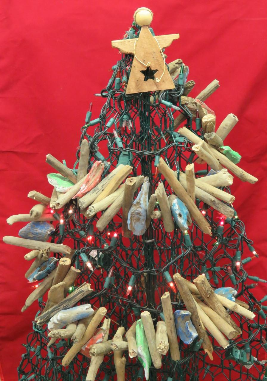 Driftwood Christmas Garland Outer Banks Beach Decor